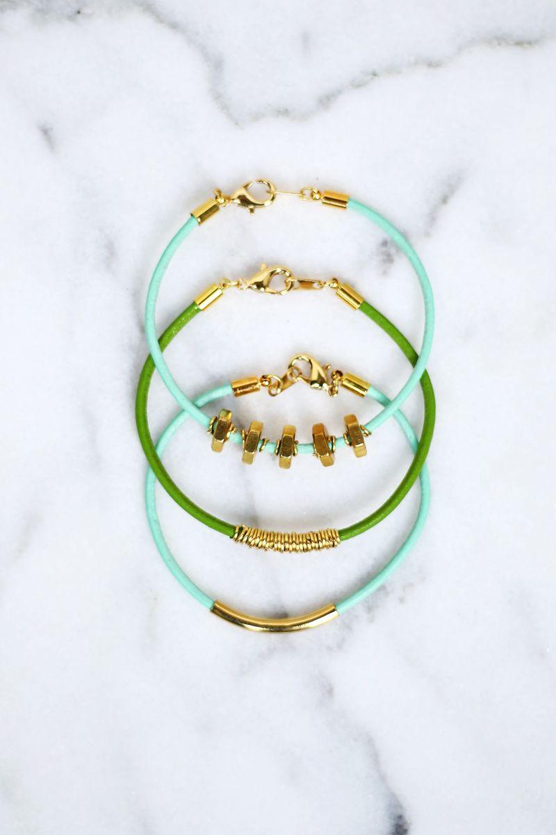 Easy leather bracelets