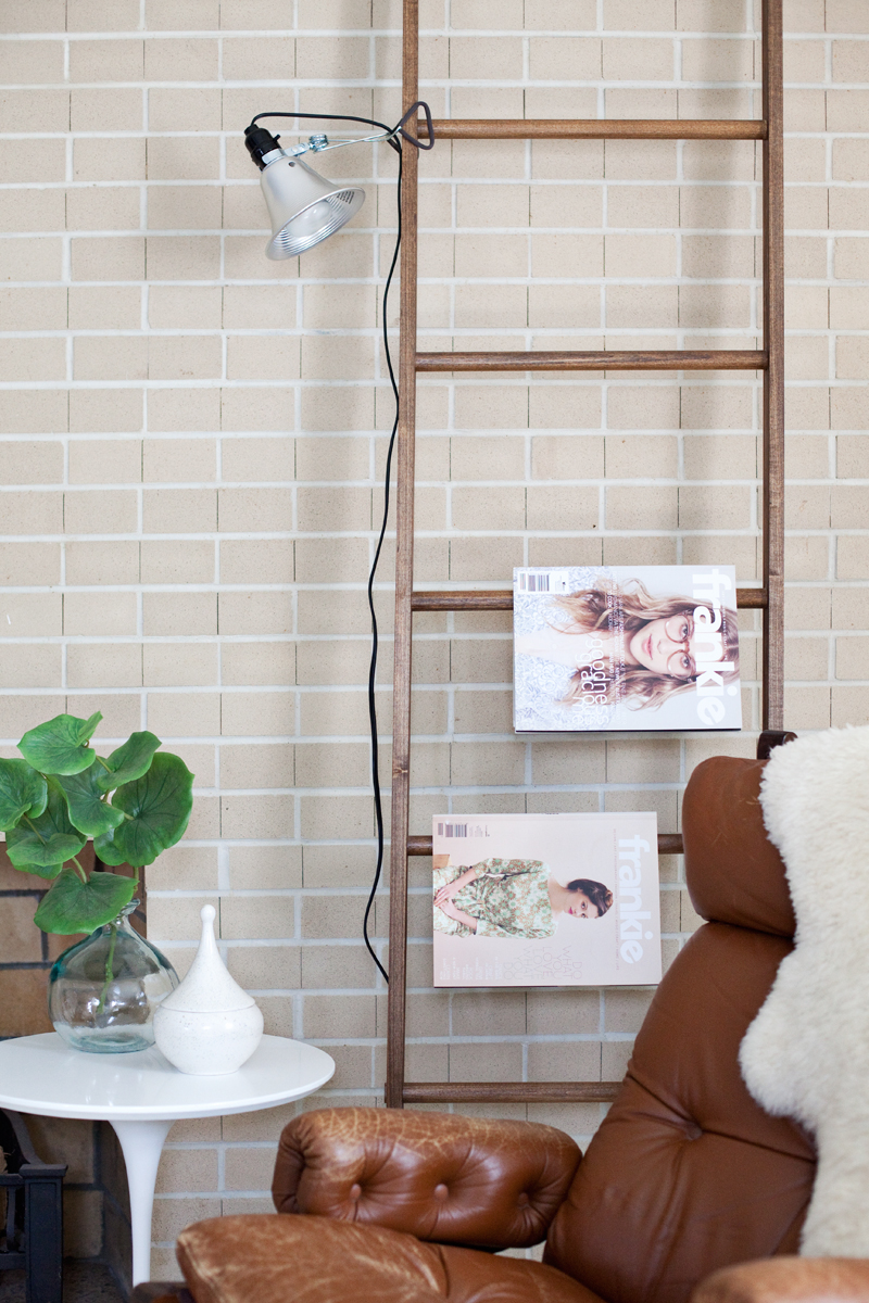 5 Ways to Style a Leaning Ladder
