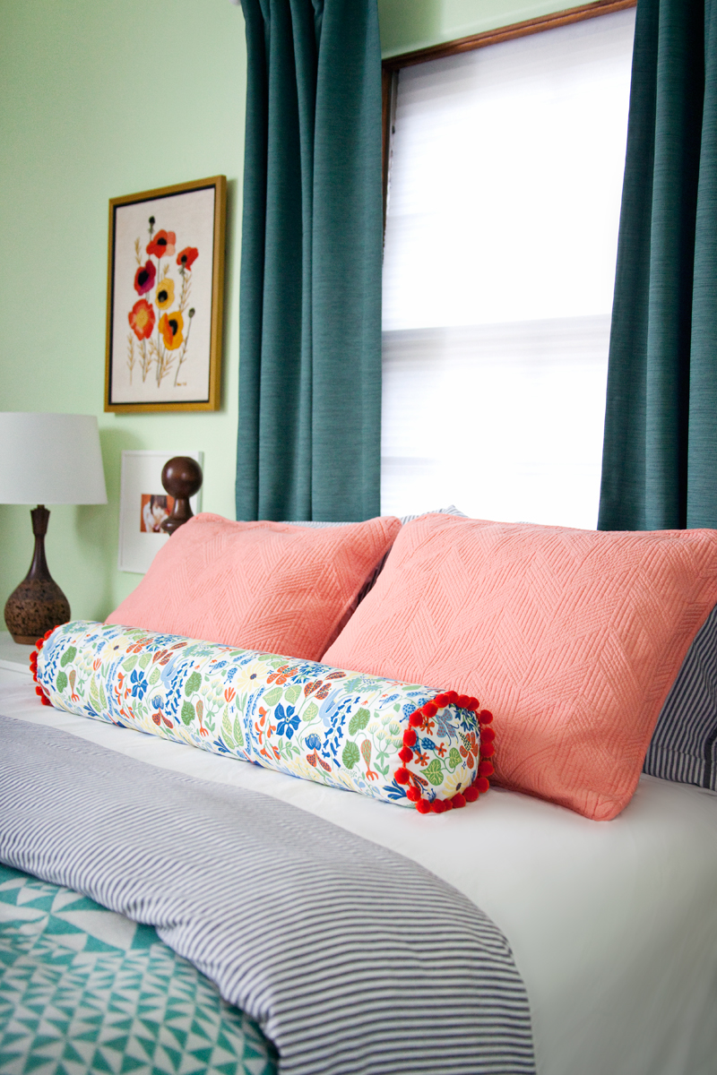 How To Make A Bolster Pillow A Beautiful Mess