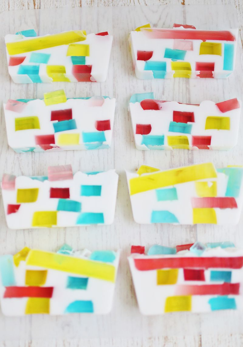DIY Stained Glass Soap (via abeautifulmess.com)