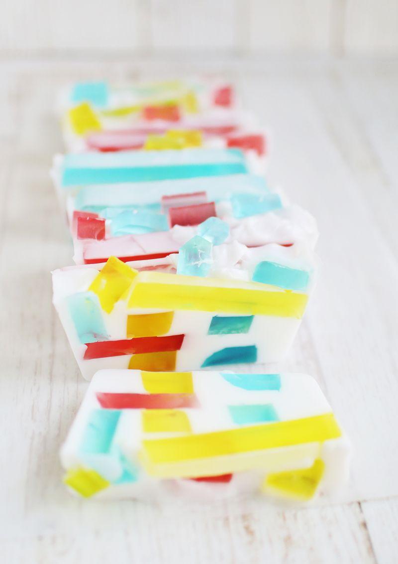 DIY Stained Glass Soap (via abeautifulmess.com)