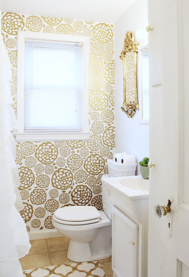 Gold flower wall
