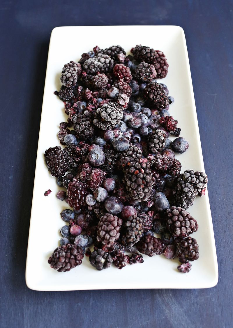 Black and blueberries