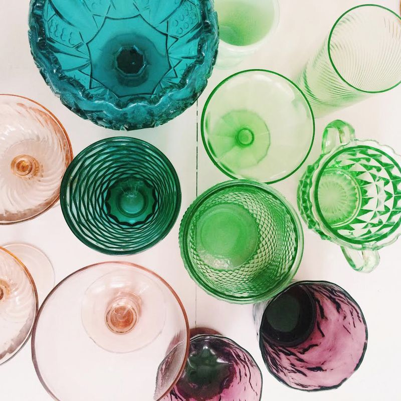 Elsie's glassware collection