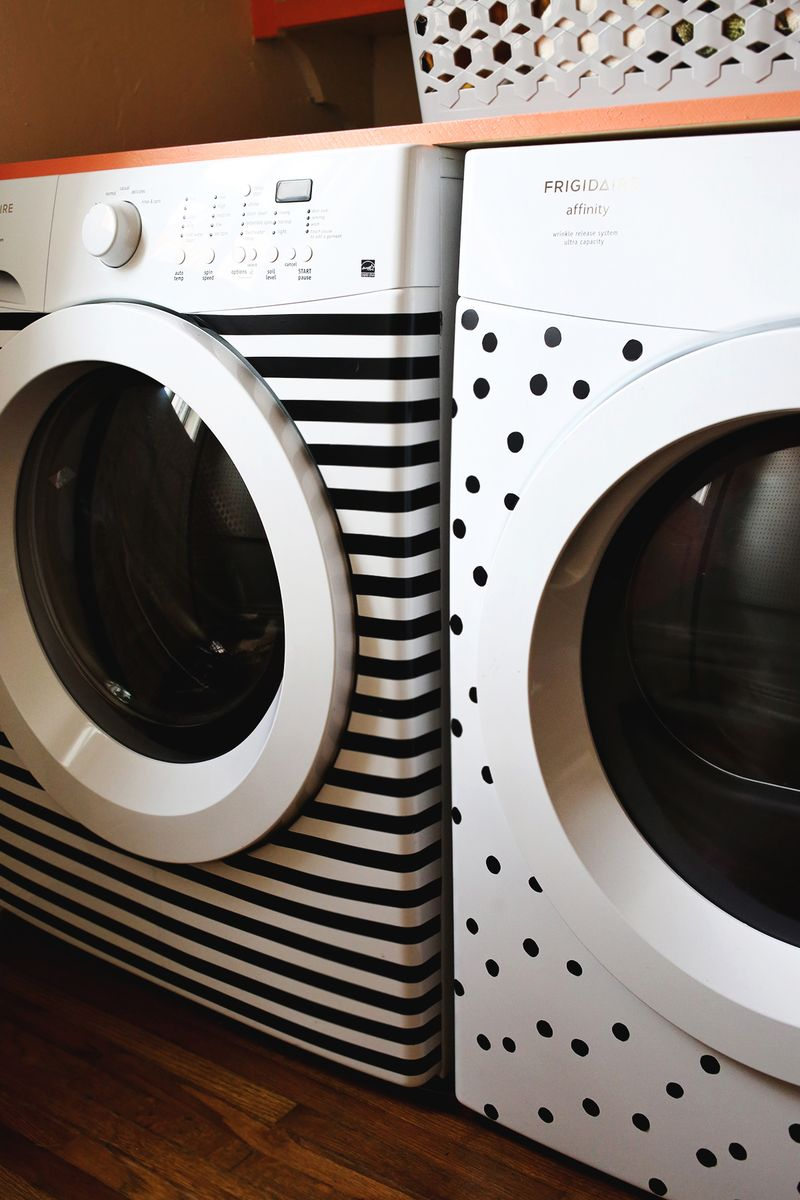 Washer + Dryer Makeover (removable and EASY!)