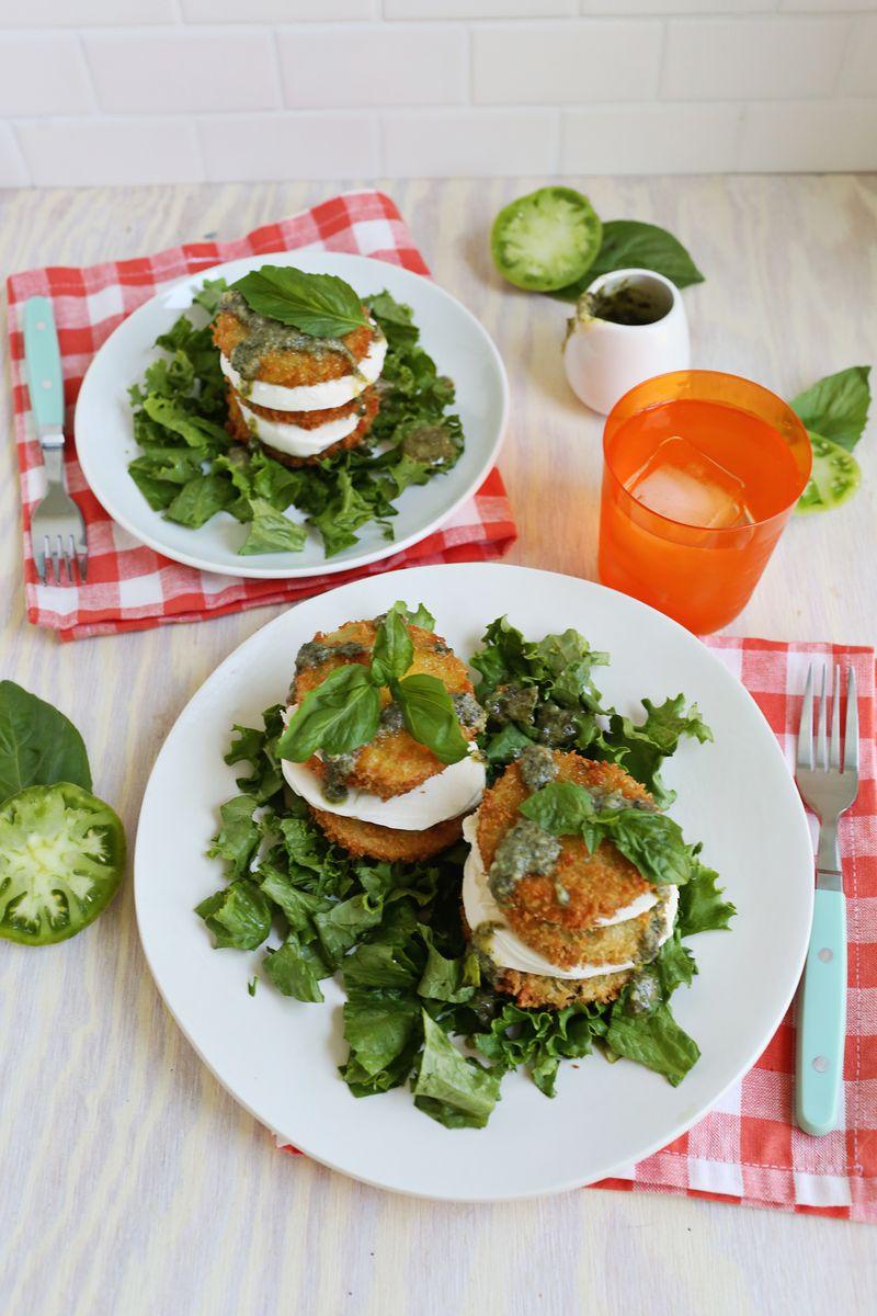 Fried Green Tomato Salad (via abeautifulmess.com)