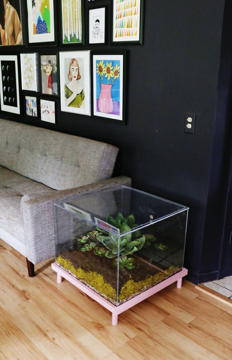 Terrarium Side Table Diy A Beautiful Mess
