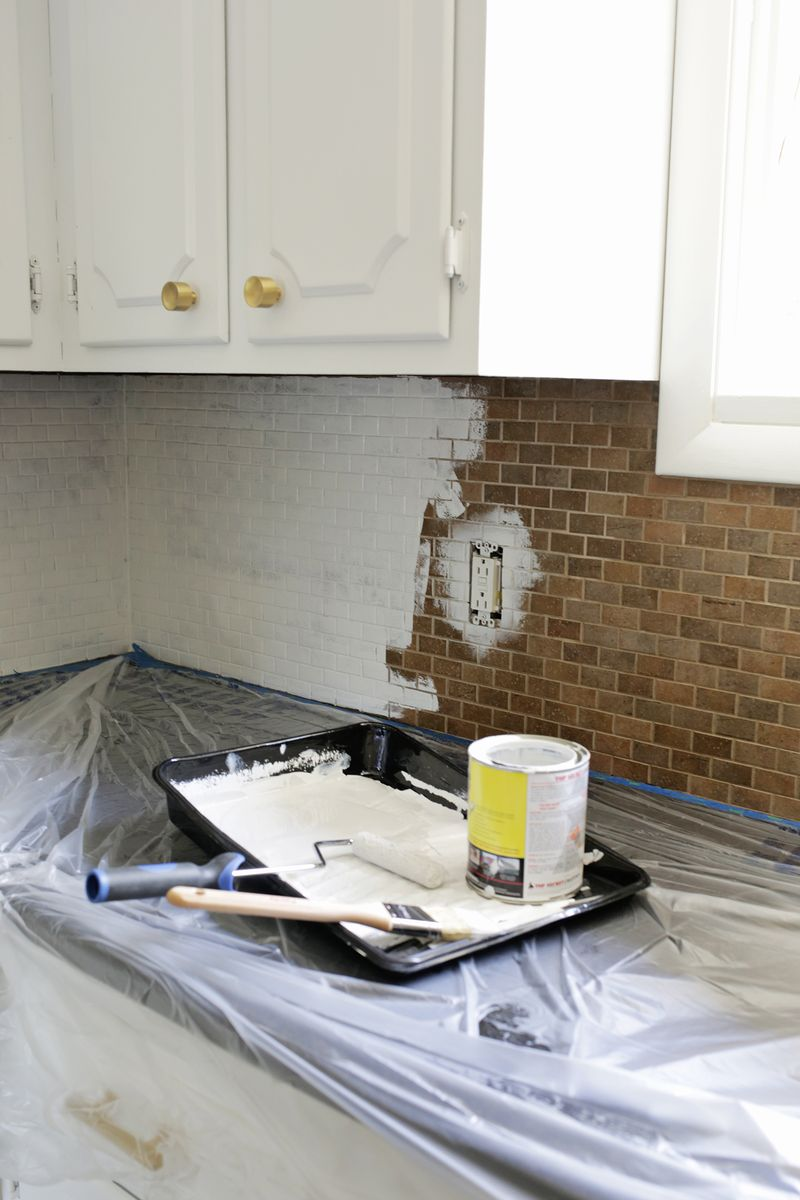 painting over tiles in kitchen how to paint a tile backsplash a beautiful mess 7363