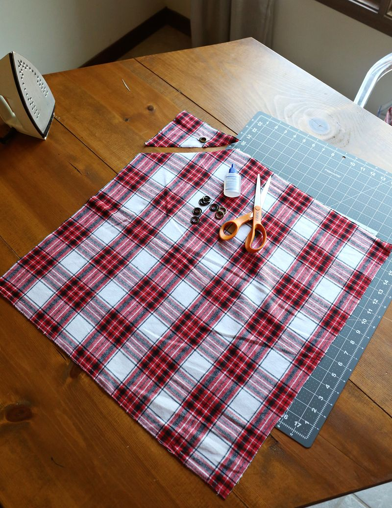 How to make a no sew apron copy