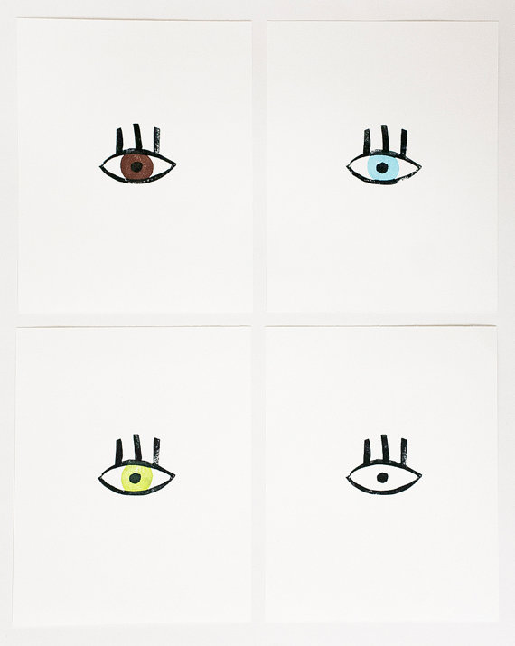 Eye art prints