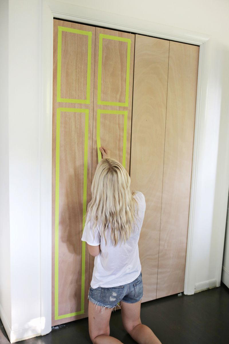 Customize Your Closet Doors With Trim A Beautiful Mess