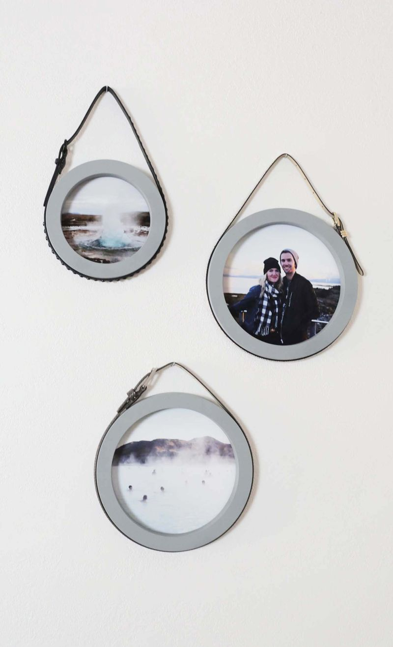 Belt loop photo frames via abeautifulmess.com)