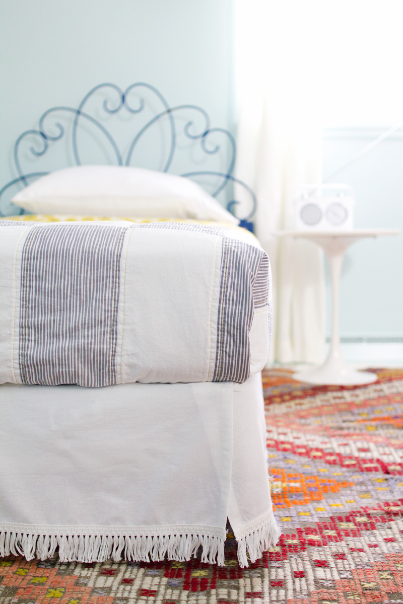 Diy Velcro Bedskirt A Beautiful Mess