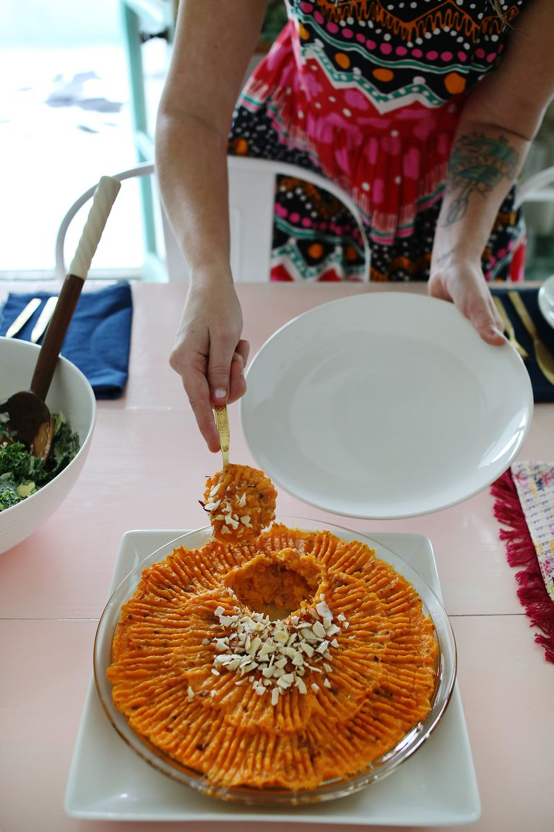 Easy duchess sweet potato casserole