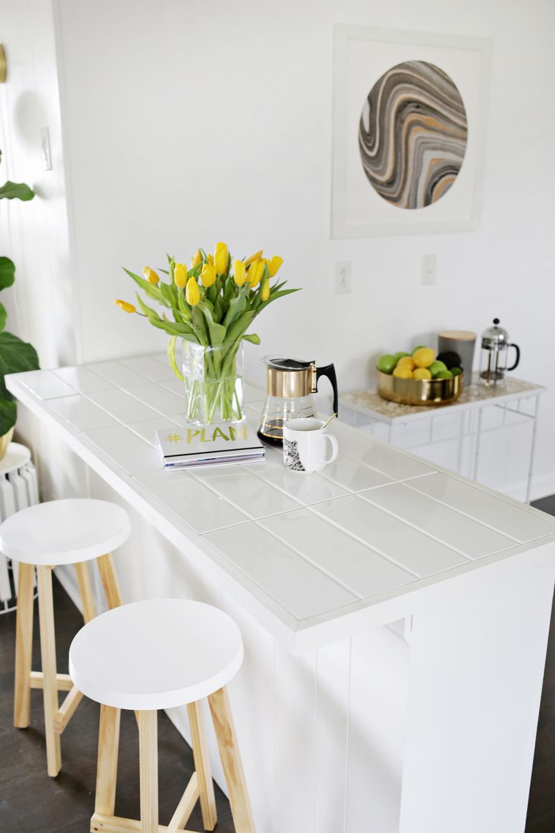 Tiled Countertop Diy No Saw Required A Beautiful Mess