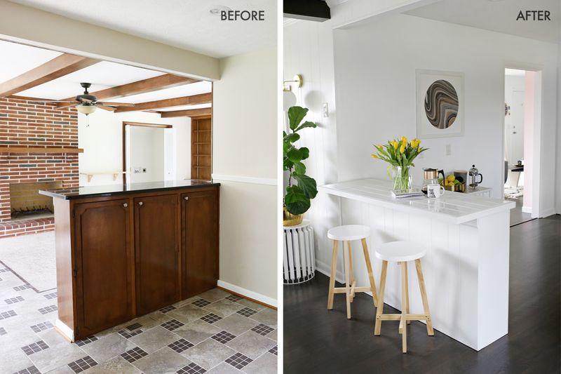 Tiled countertop DIY (click through for tutorial)