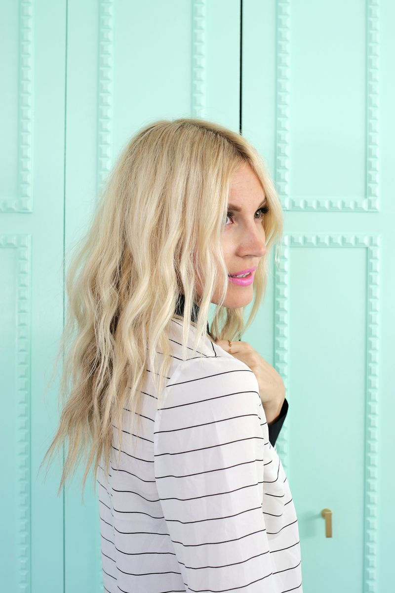 Create soft waves with just a hairdryer! (click through for tutorial