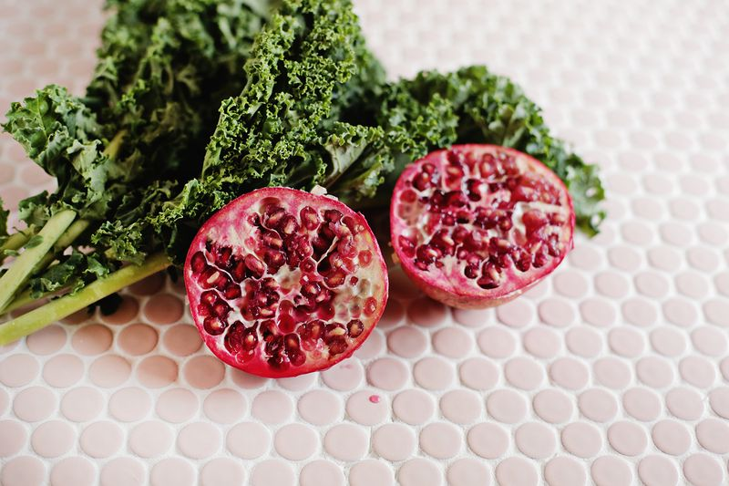 Pomegranate and kale