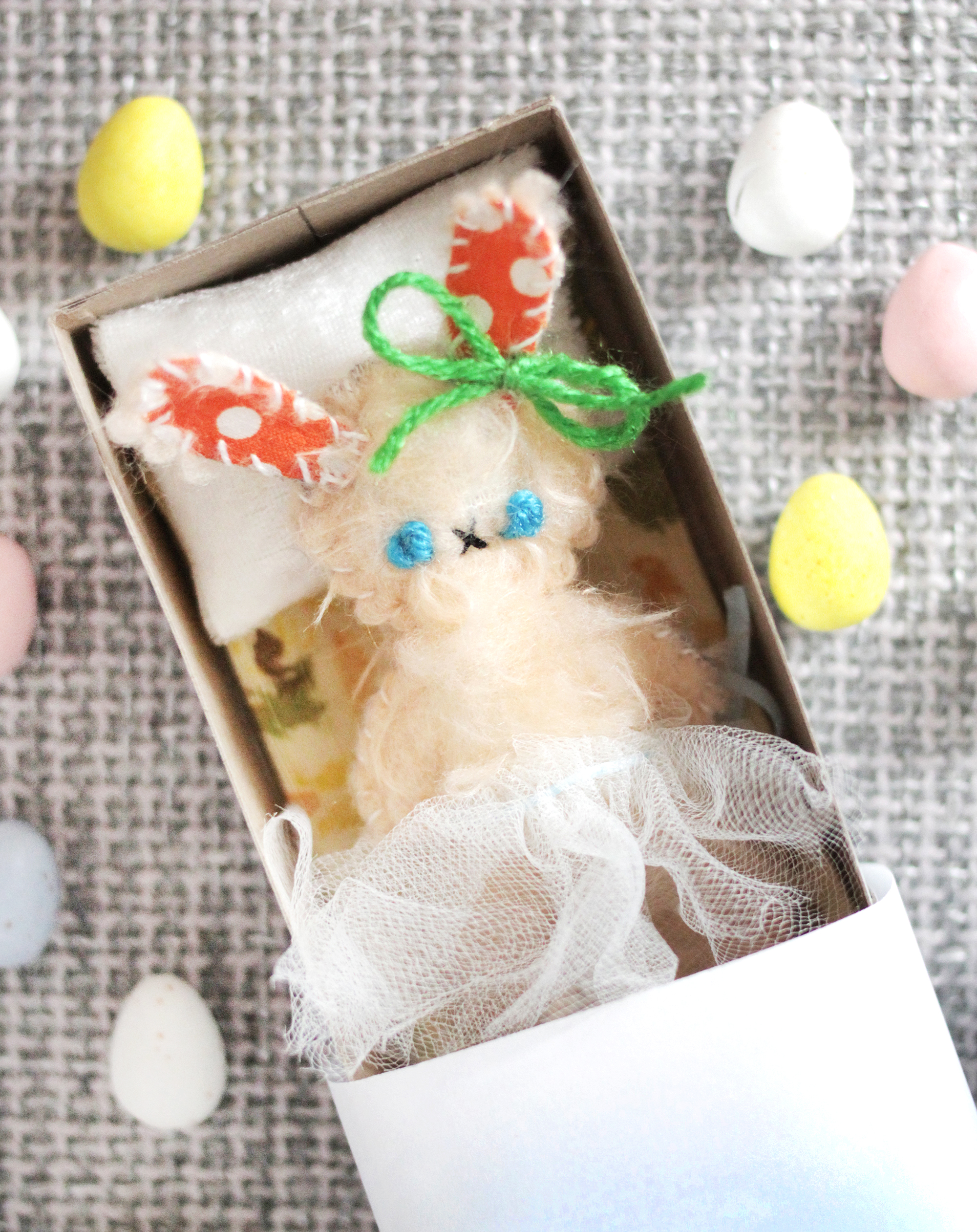 This darling matchbox bunny would be such a sweet gift for Easter