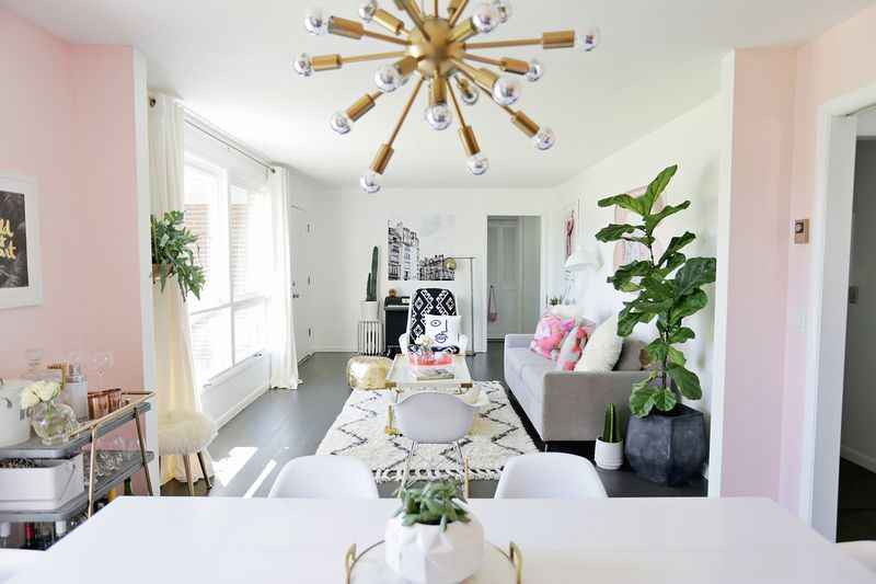 Charmant ... Bright + Airy Sitting:dining Room Makeover (click Through To See Before  And After ...