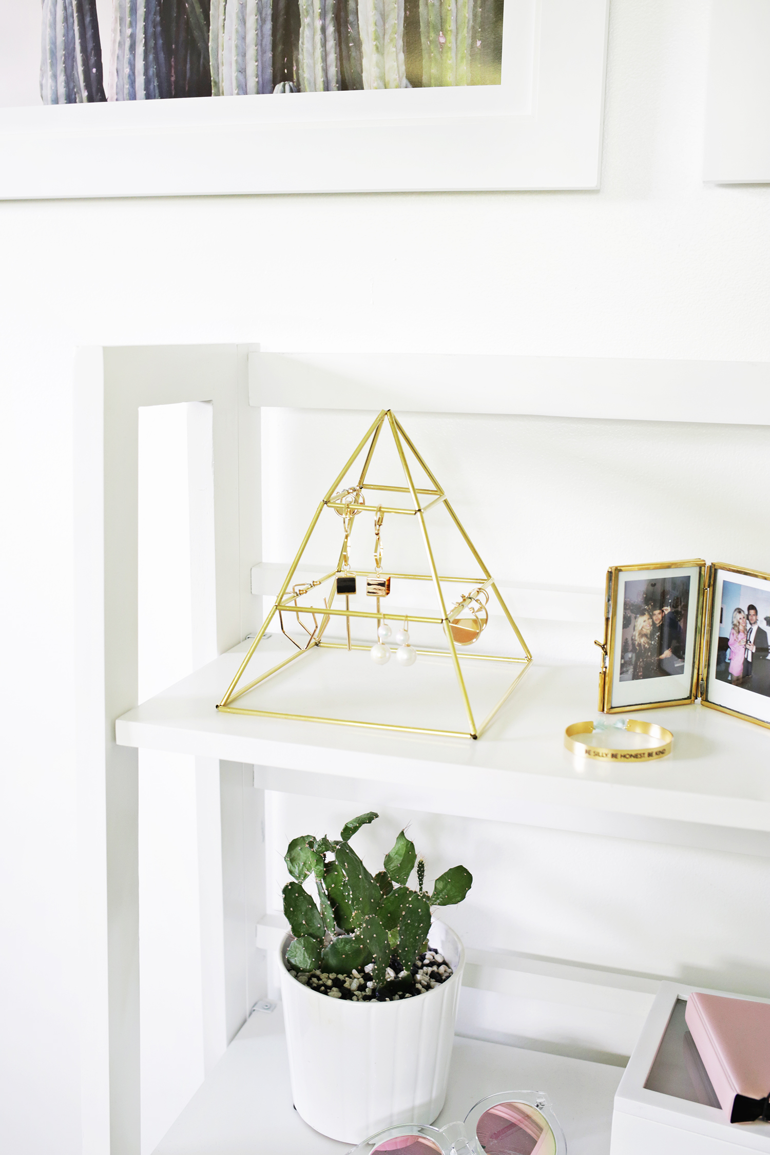 Brass Earring Pyramid DIY (click through for more)