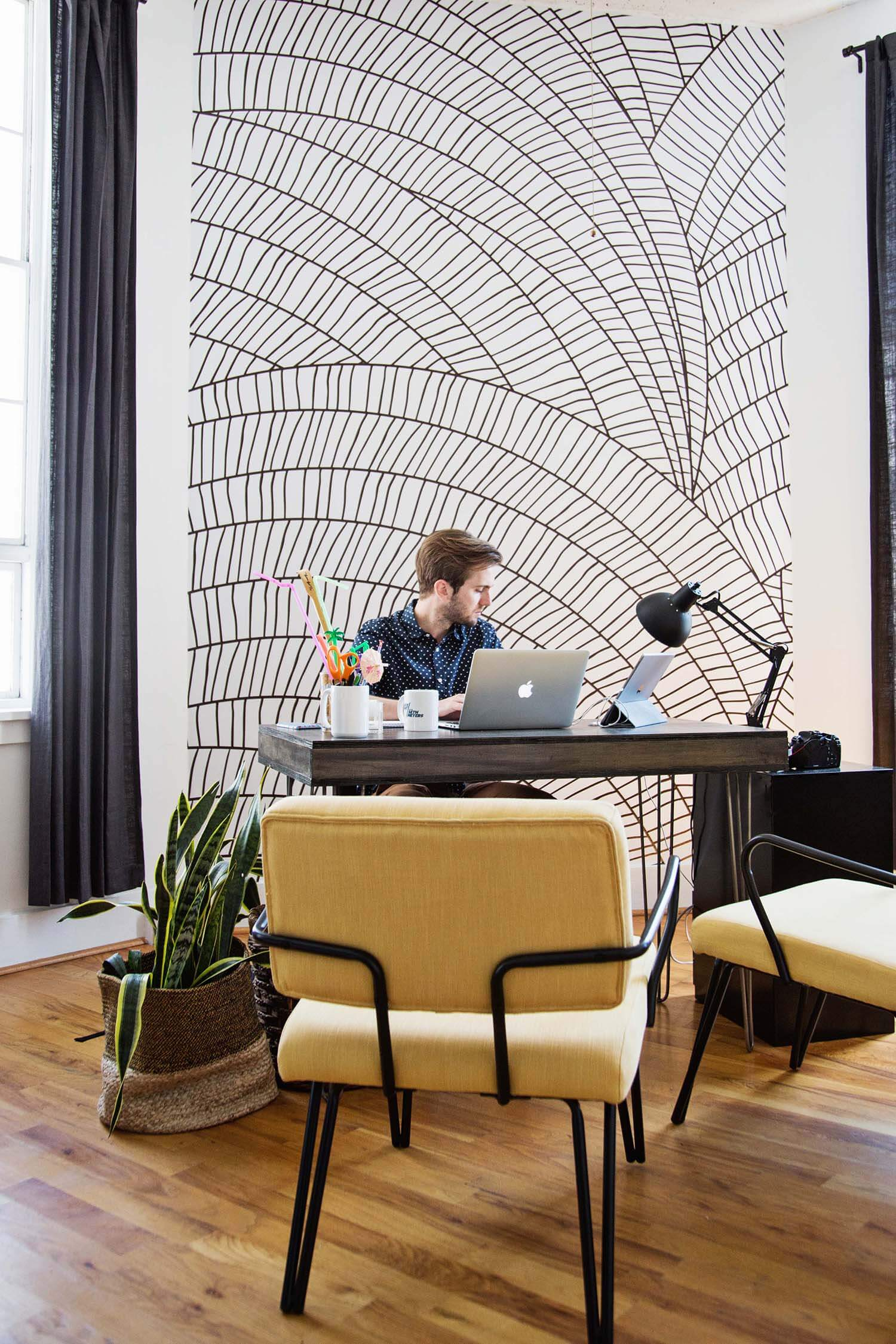 Trey's desk area