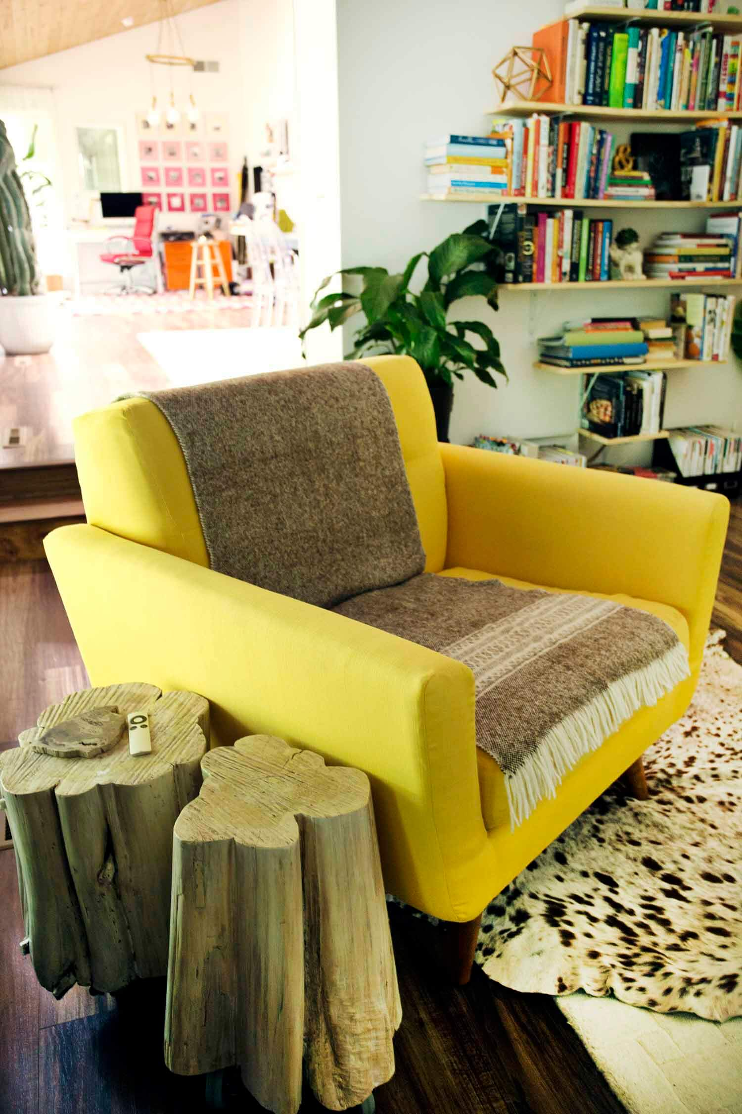 Yellow arm chair