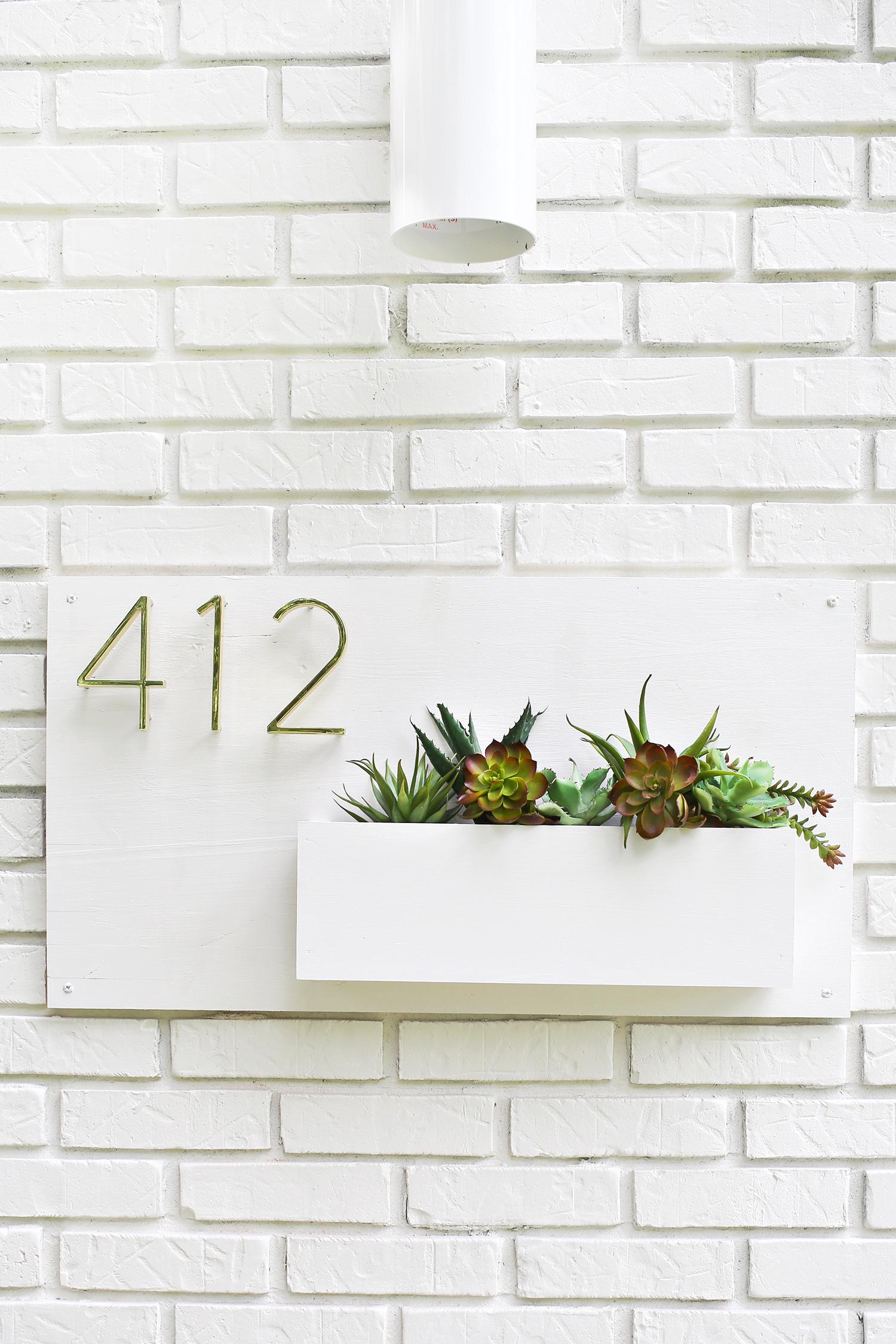 Modern House Number Planter A Beautiful Mess