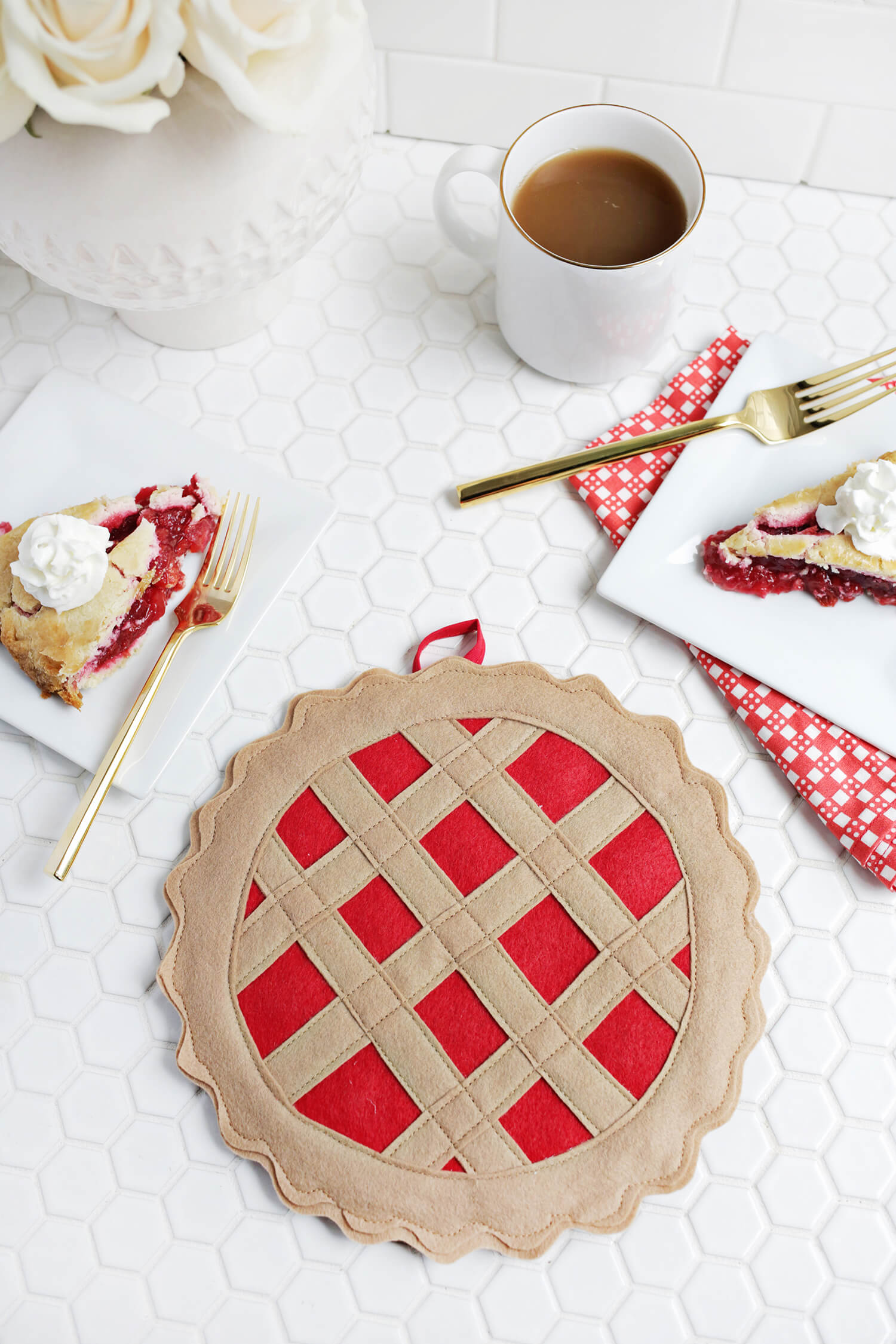 Cherry Pie Potholder DIY - A Beautiful Mess
