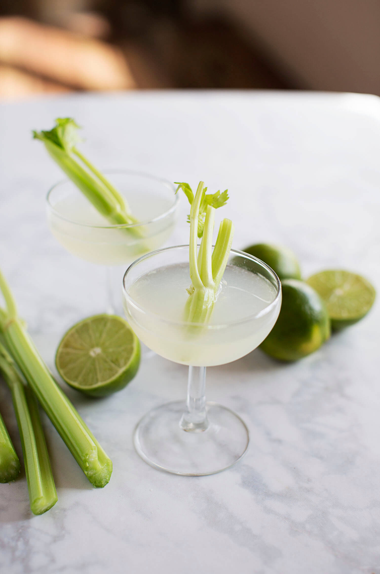 Celery and Lime Gimlet (via abeautifulmess.com)