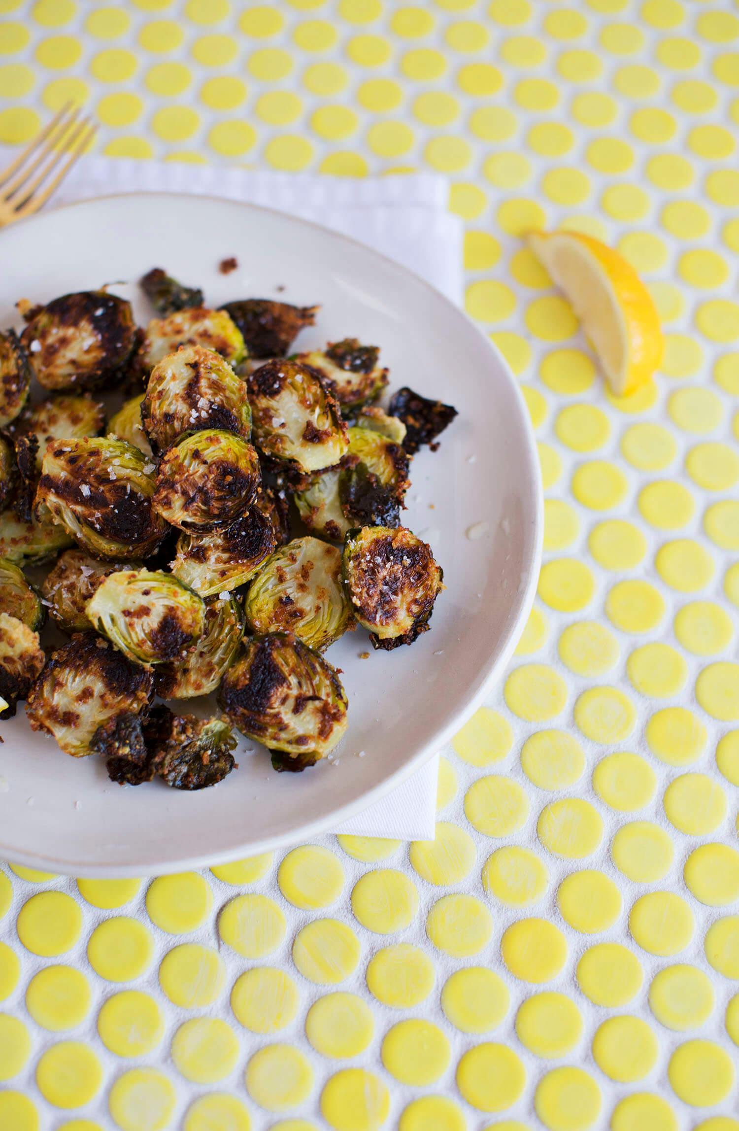 Parmesan Baked Brussels (via abeautifulmess.com)