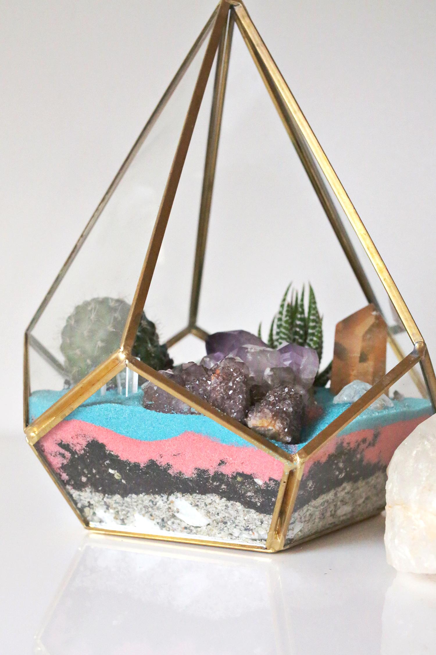 Crystal Cactus Terrarium A Beautiful Mess