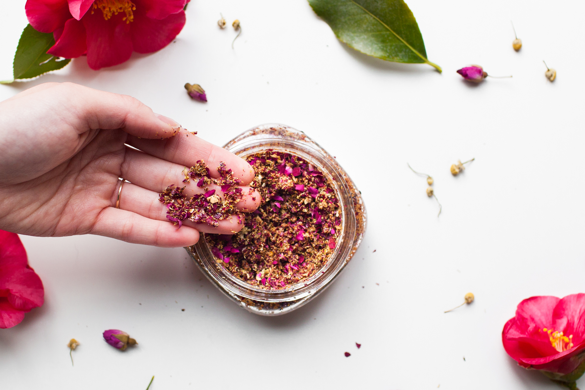 Flower Petal and Walnut Scrub (click through for tutorial)