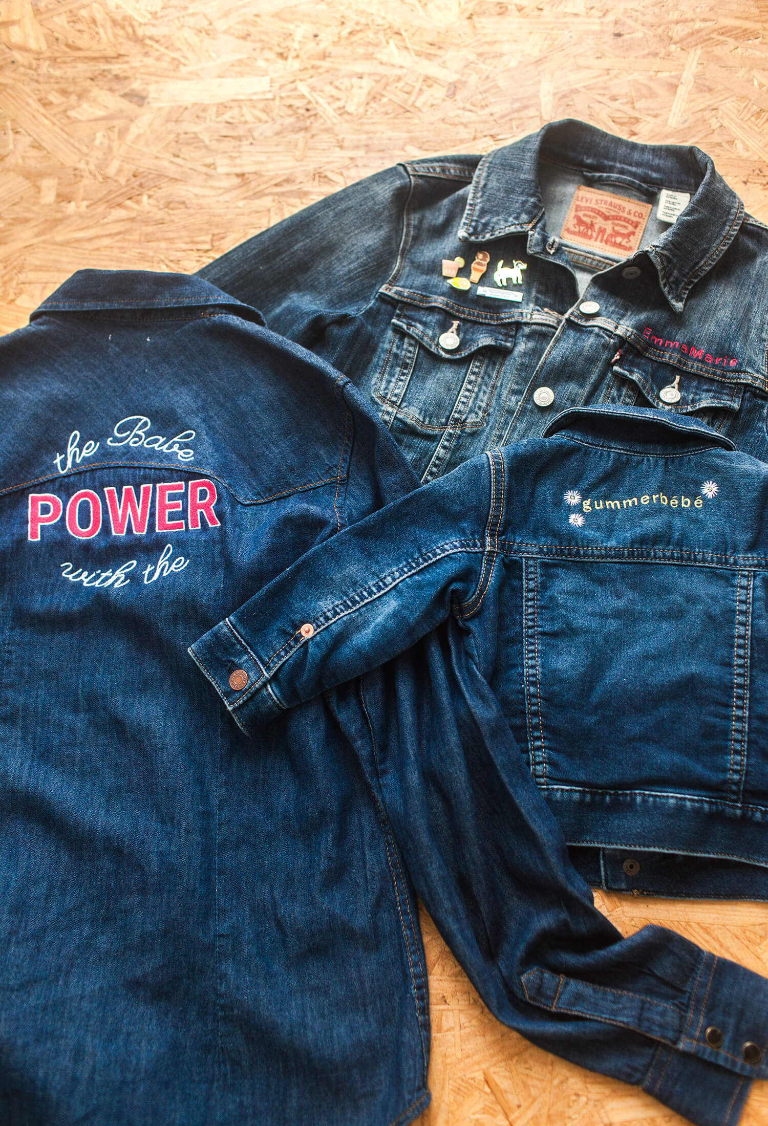 DIY embroidered denim jacket (via abeautifulmess.com)