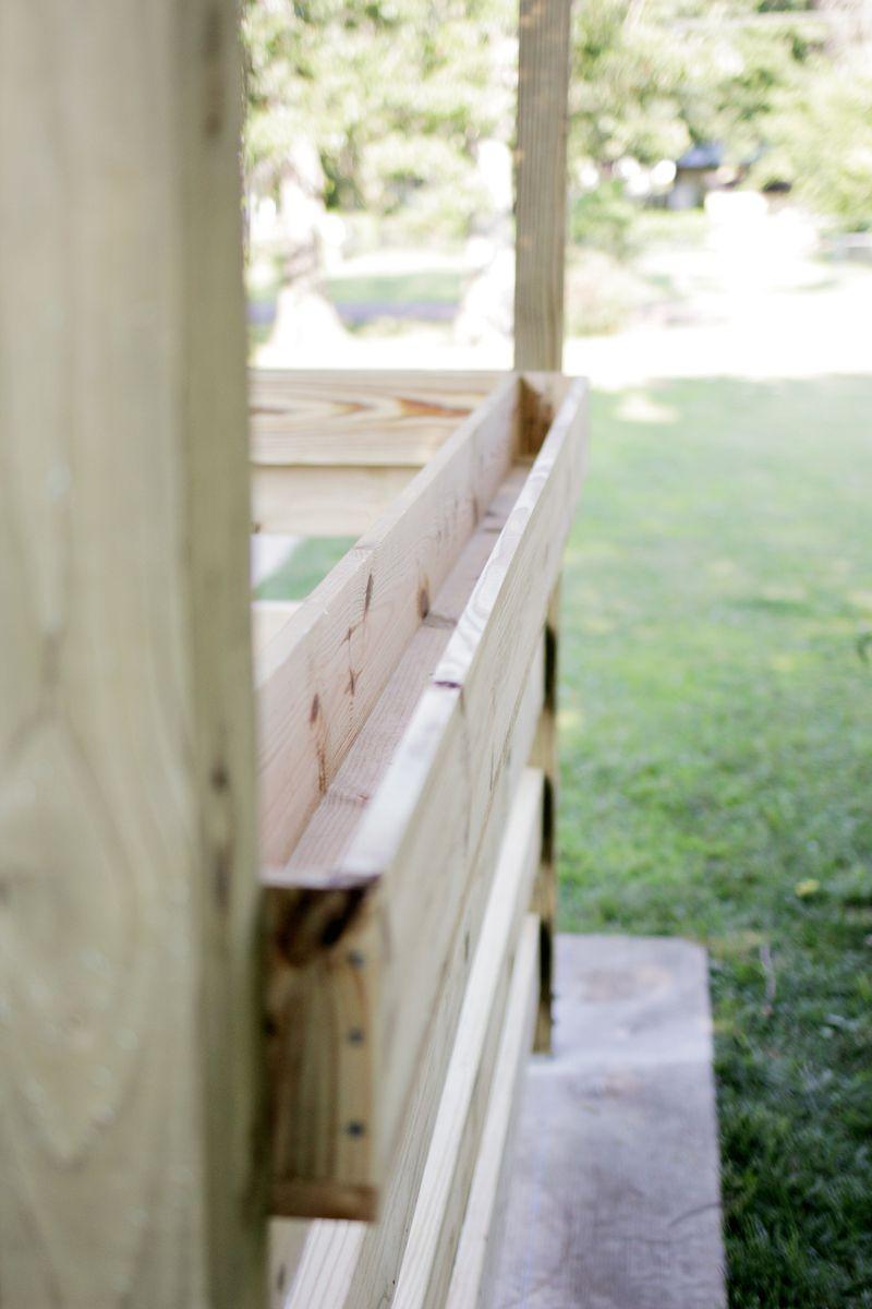 Build a pergola - starting herb trough (click through for more info)