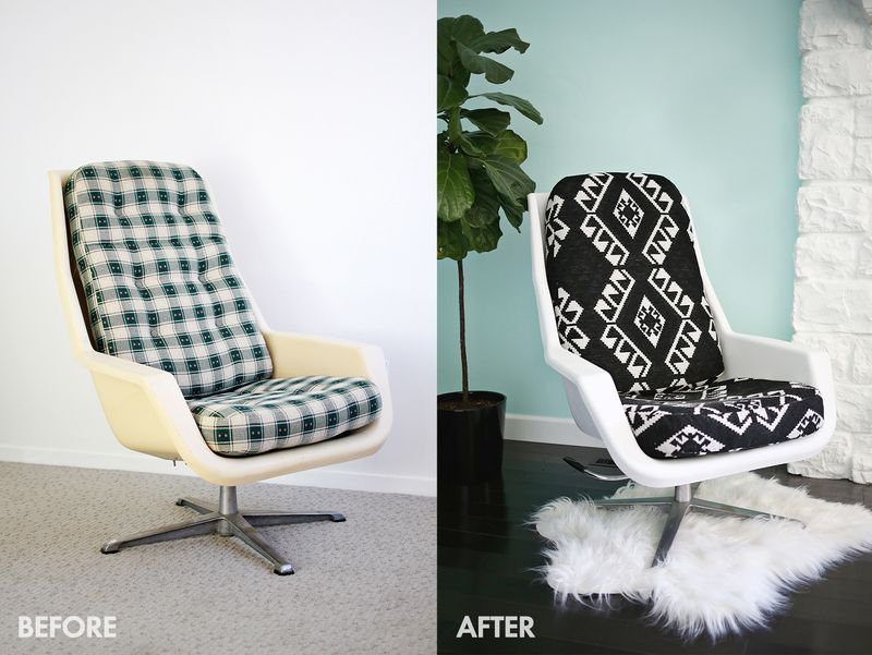 Add New Life to a Vintage Chair (click through for tutorial)