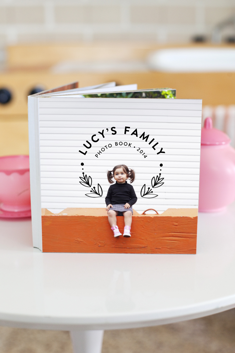 How to easily make a children's board book- perfect for learning family names!