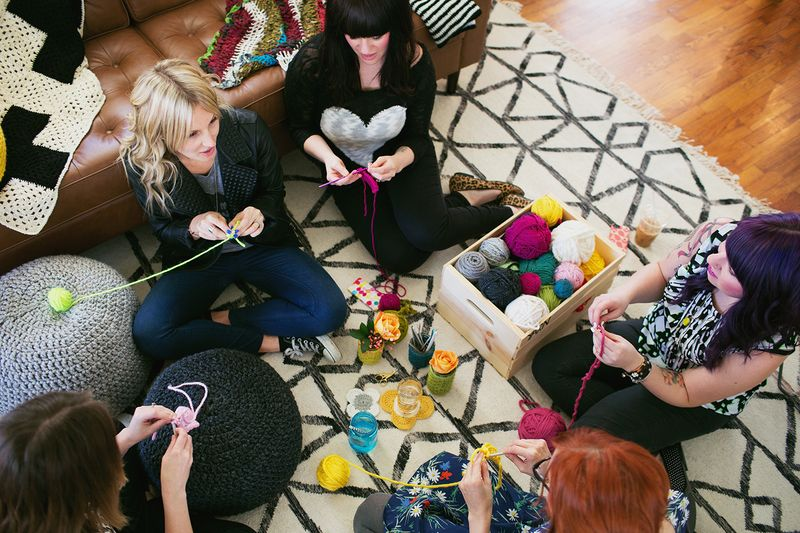 Have a crochet party with your friends!