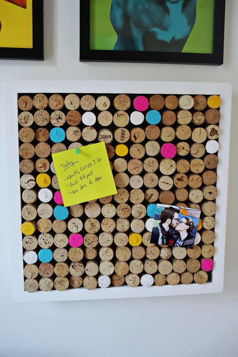 Try This Wine Cork Bulletin Board A Beautiful Mess