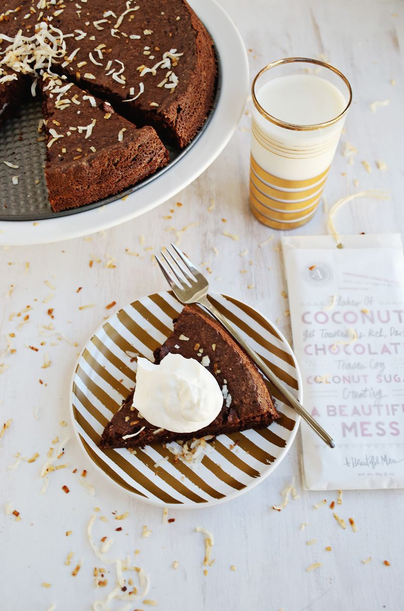Flourless Chocolate Coconut Cake A Beautiful Mess