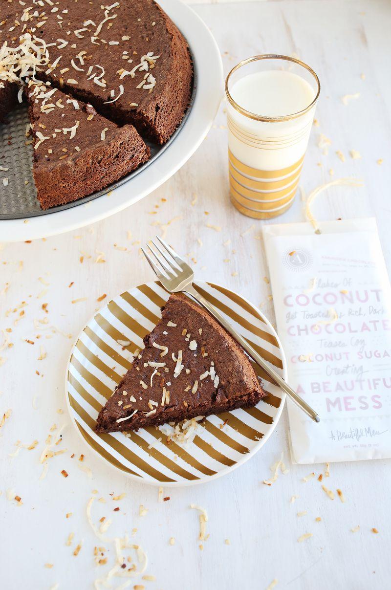 Flourless Schokoladen- (Kokosnuss-) Kuchen