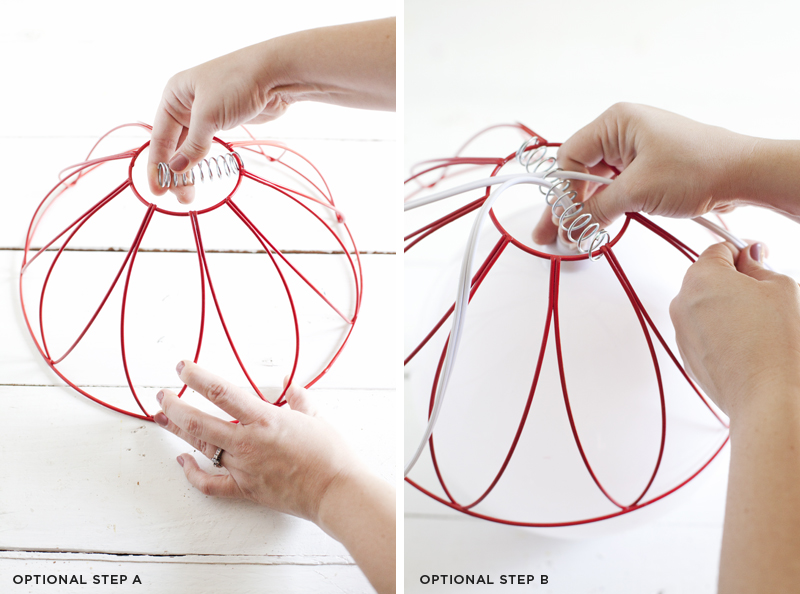 Wire basket pendant light— easy DIY with no wiring required!