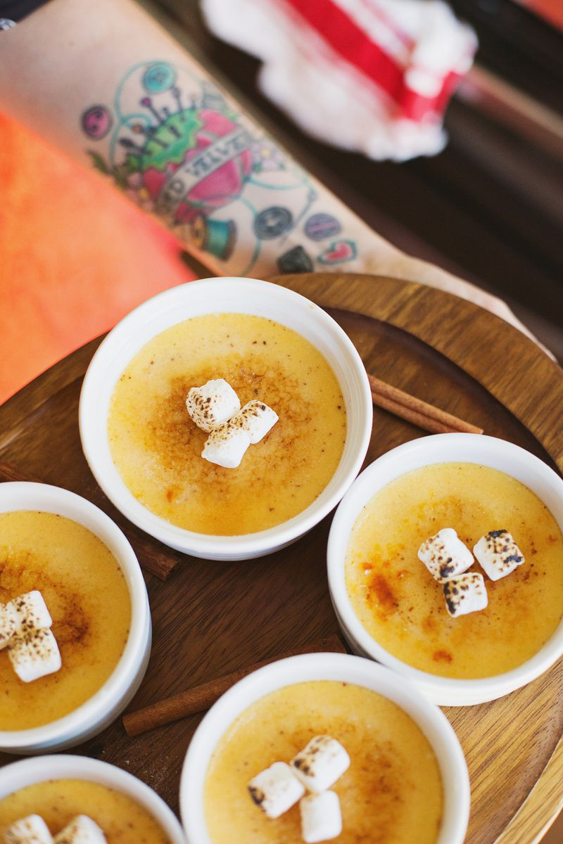 Sweet potato brulee
