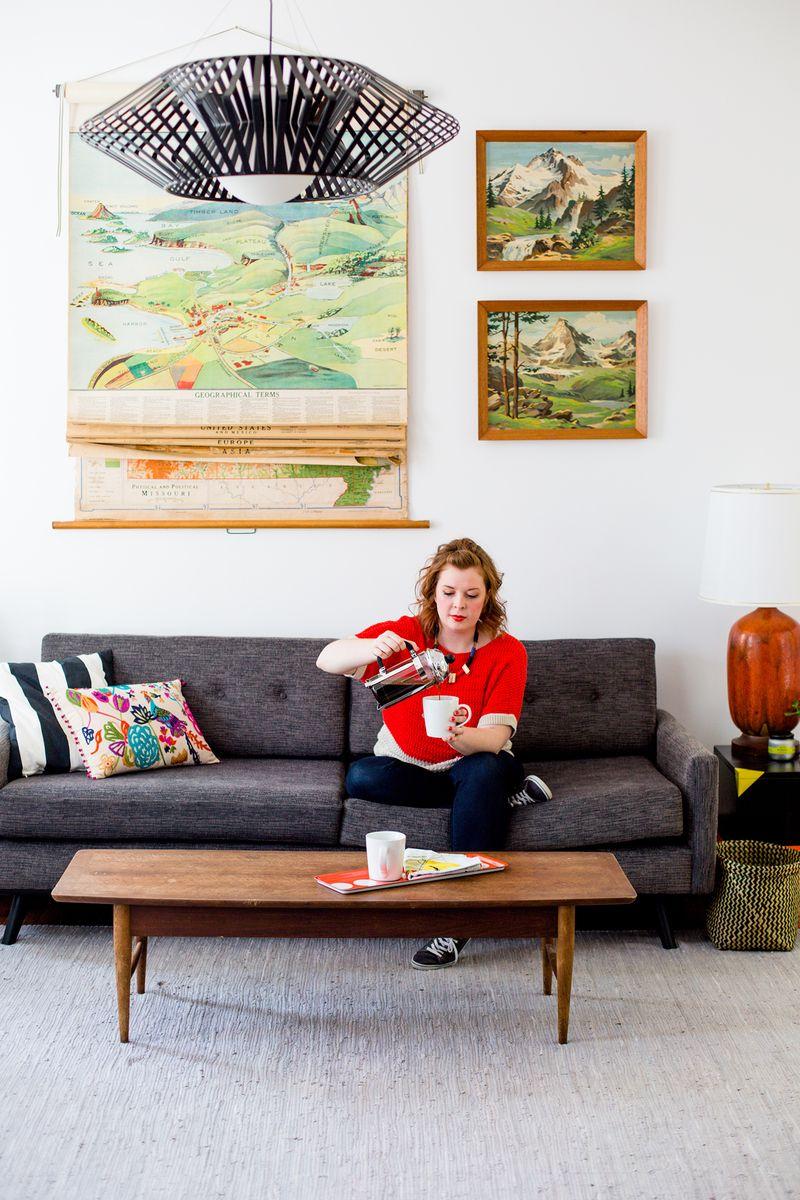 Sarah's living room tour