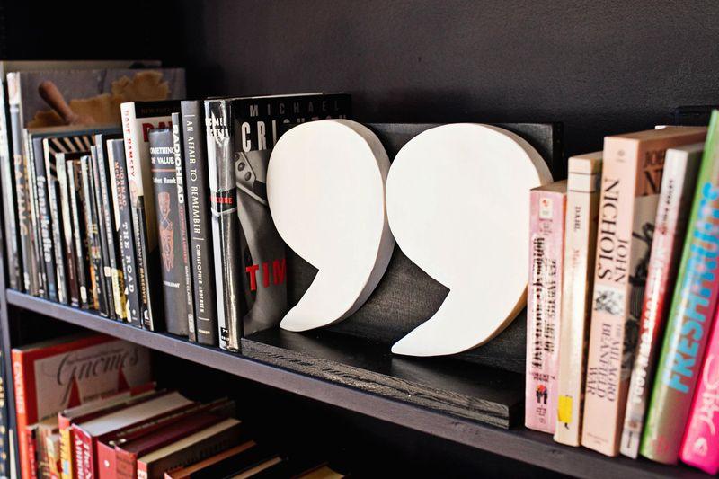 Quote bookends DIY via abeautifulmess.com