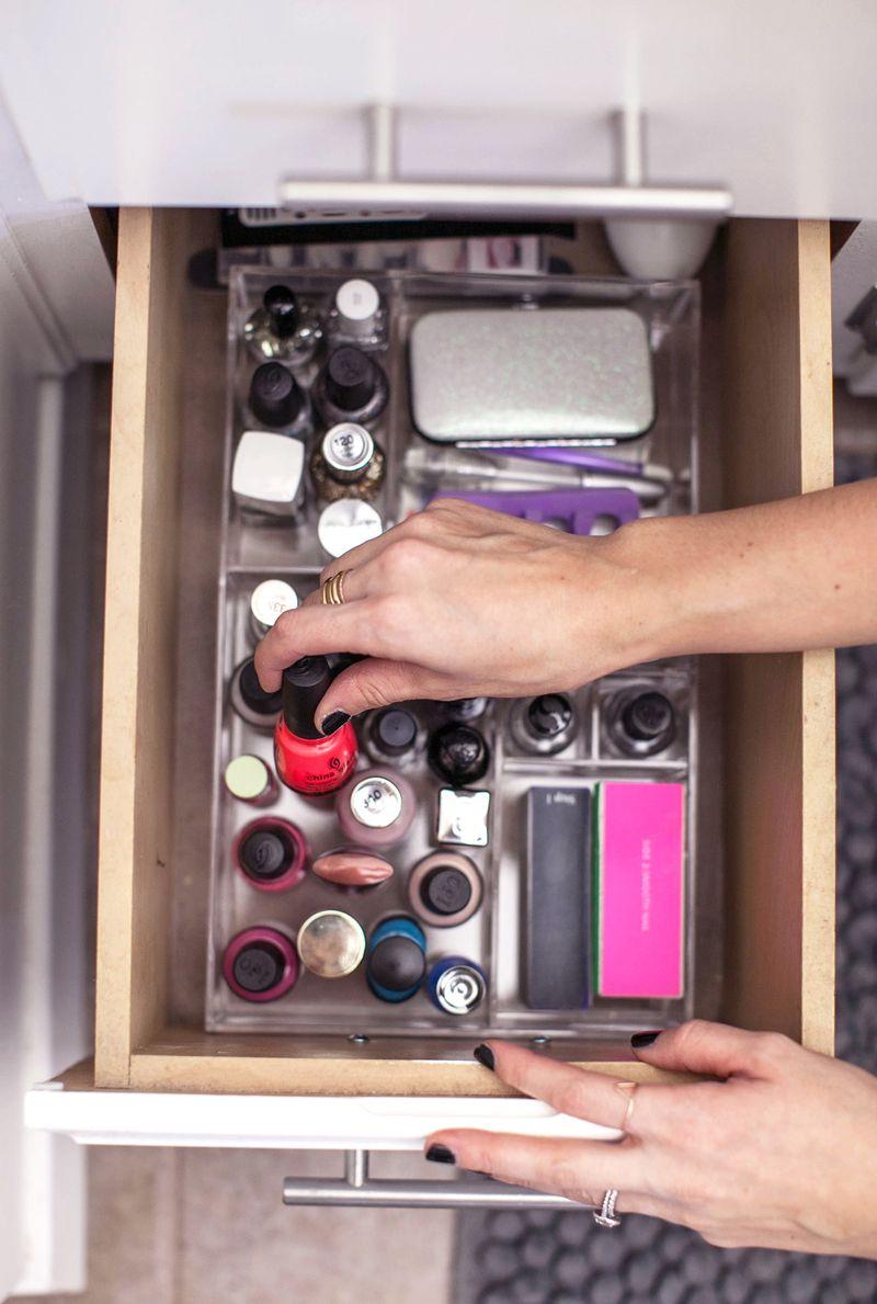 Organize your bathroom vanity