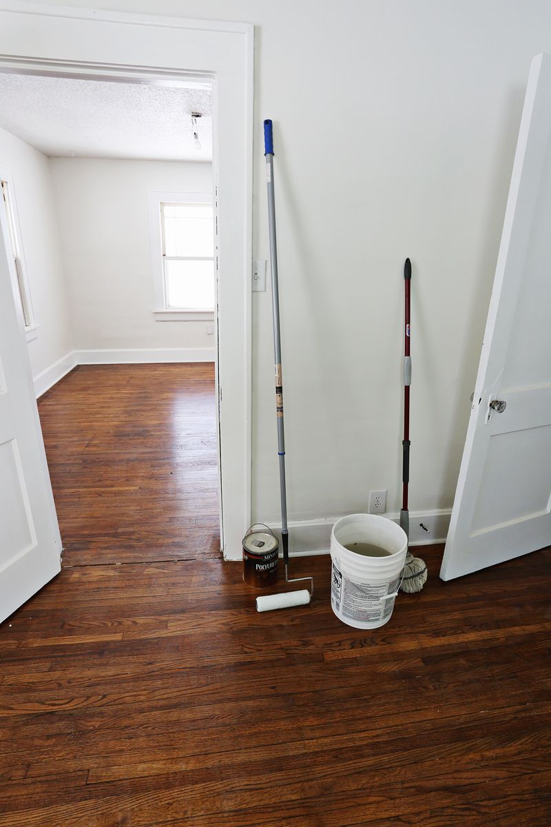 How we refinished our old hardwood floors