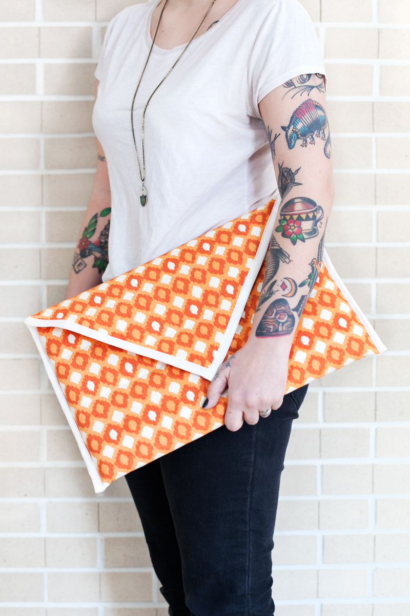 Make this simple and stylish laptop sleeve- it's even padded and water resistant!