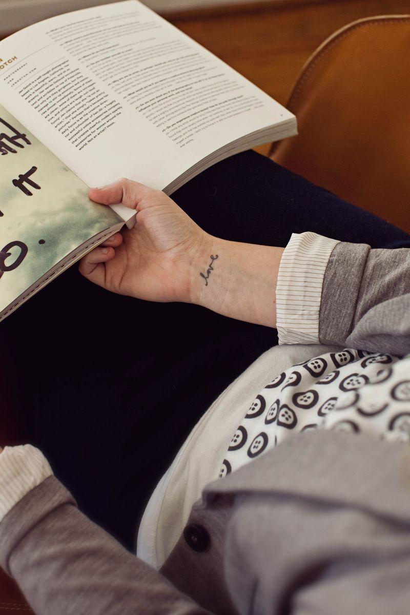 Emma's wrist tattoo