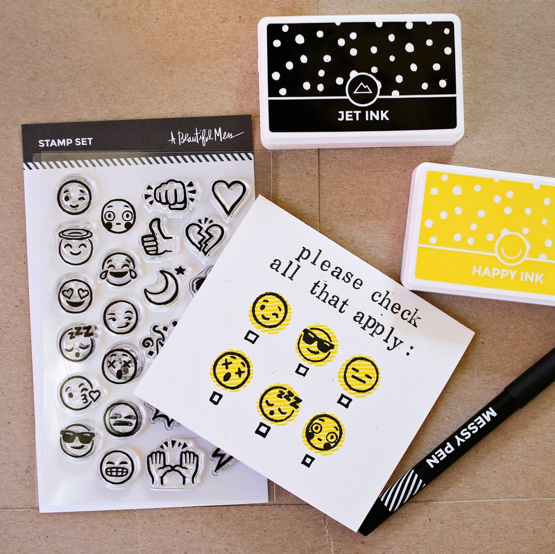 Emoji stamp set